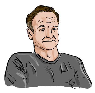 Robin Williams caricature sample